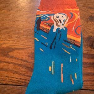 The Scream Art Socks